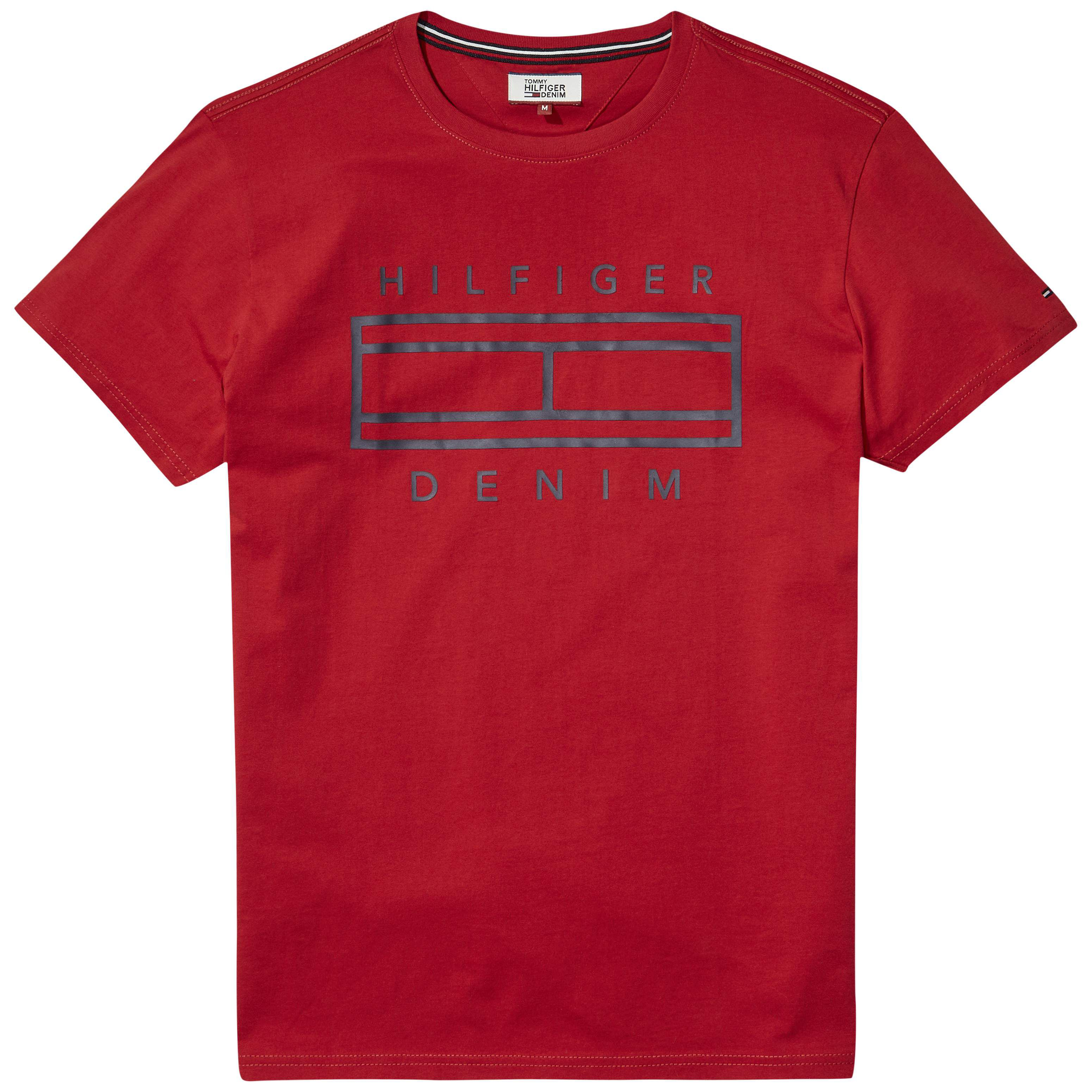 Men's Tommy Hilfiger Basic Graphic Logo T-Shirt, Salsa
