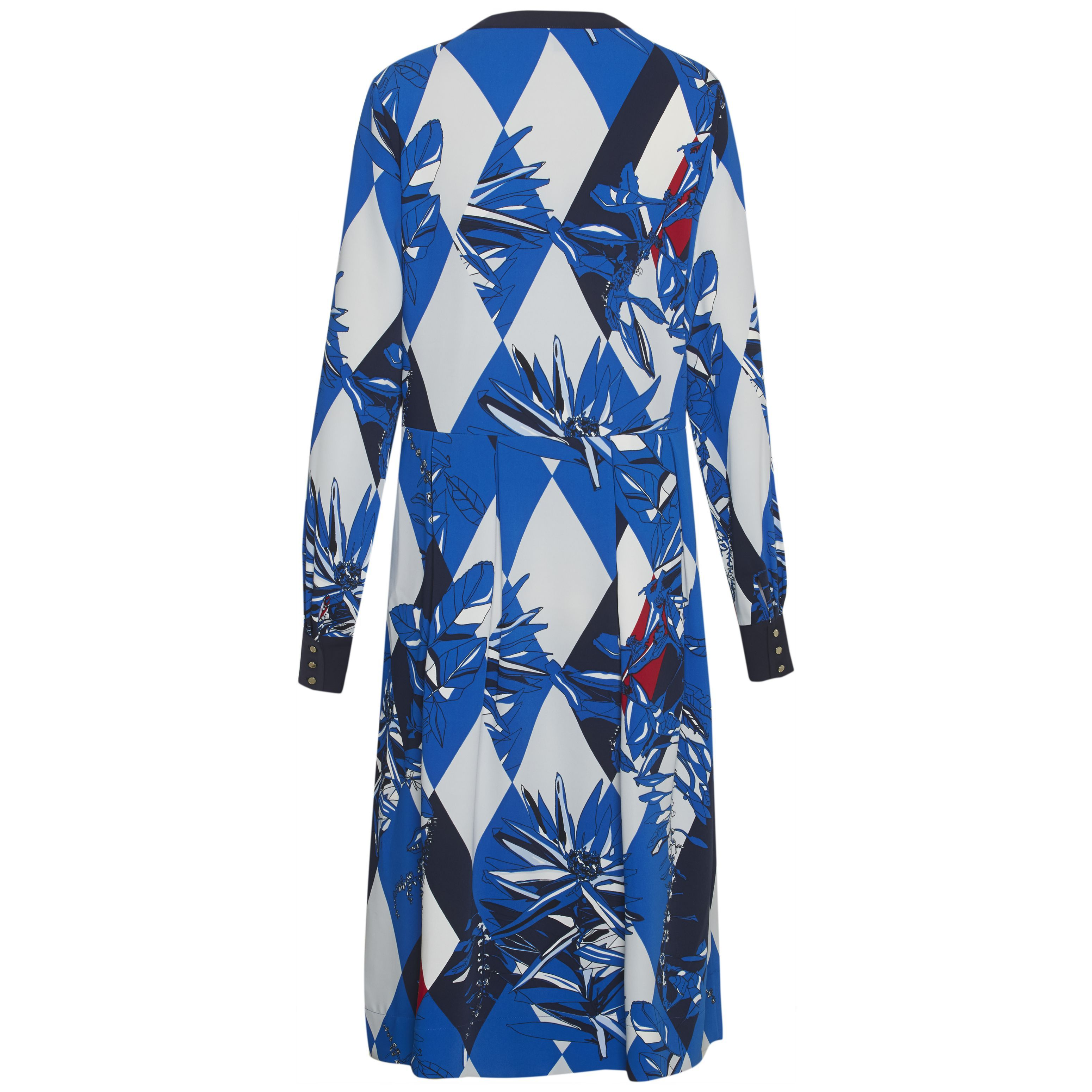 Tommy Hilfiger Joan Long Sleeve Midi Dress, Multi-Coloured
