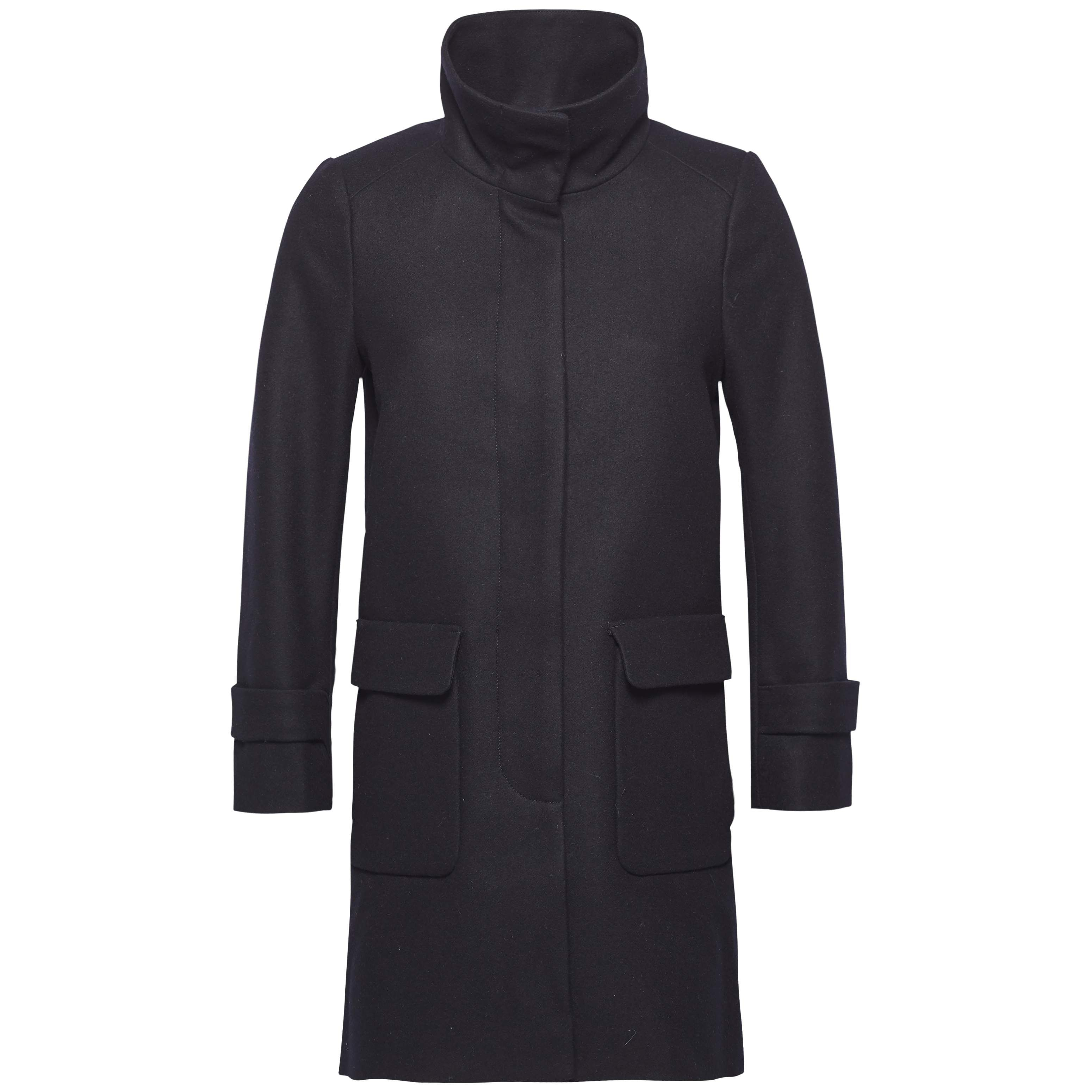 Tommy Hilfiger Carrie Wool Funnel Collar Coat, Blue