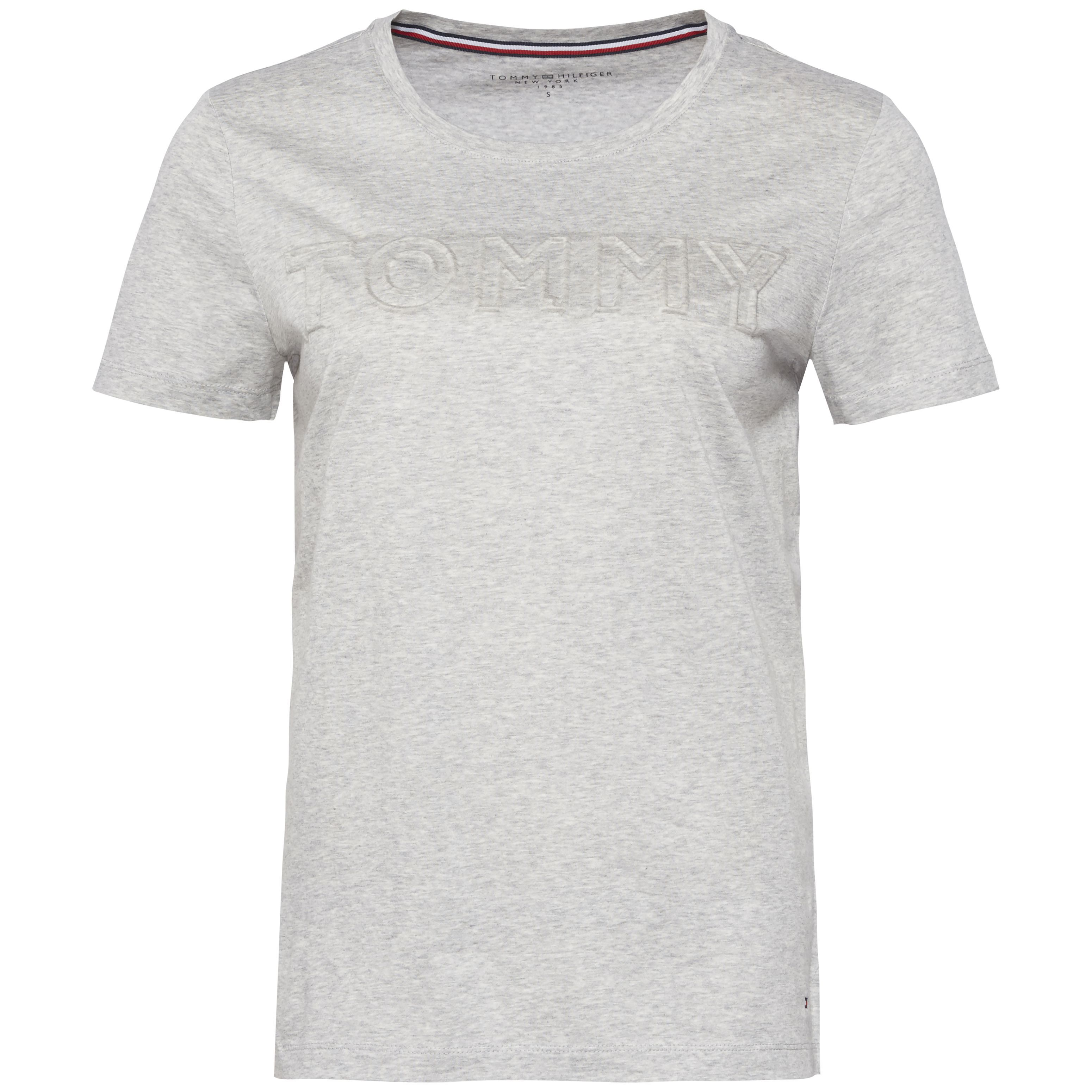 Tommy Hilfiger Tommy Embossed Short Sleeve Tee, Grey