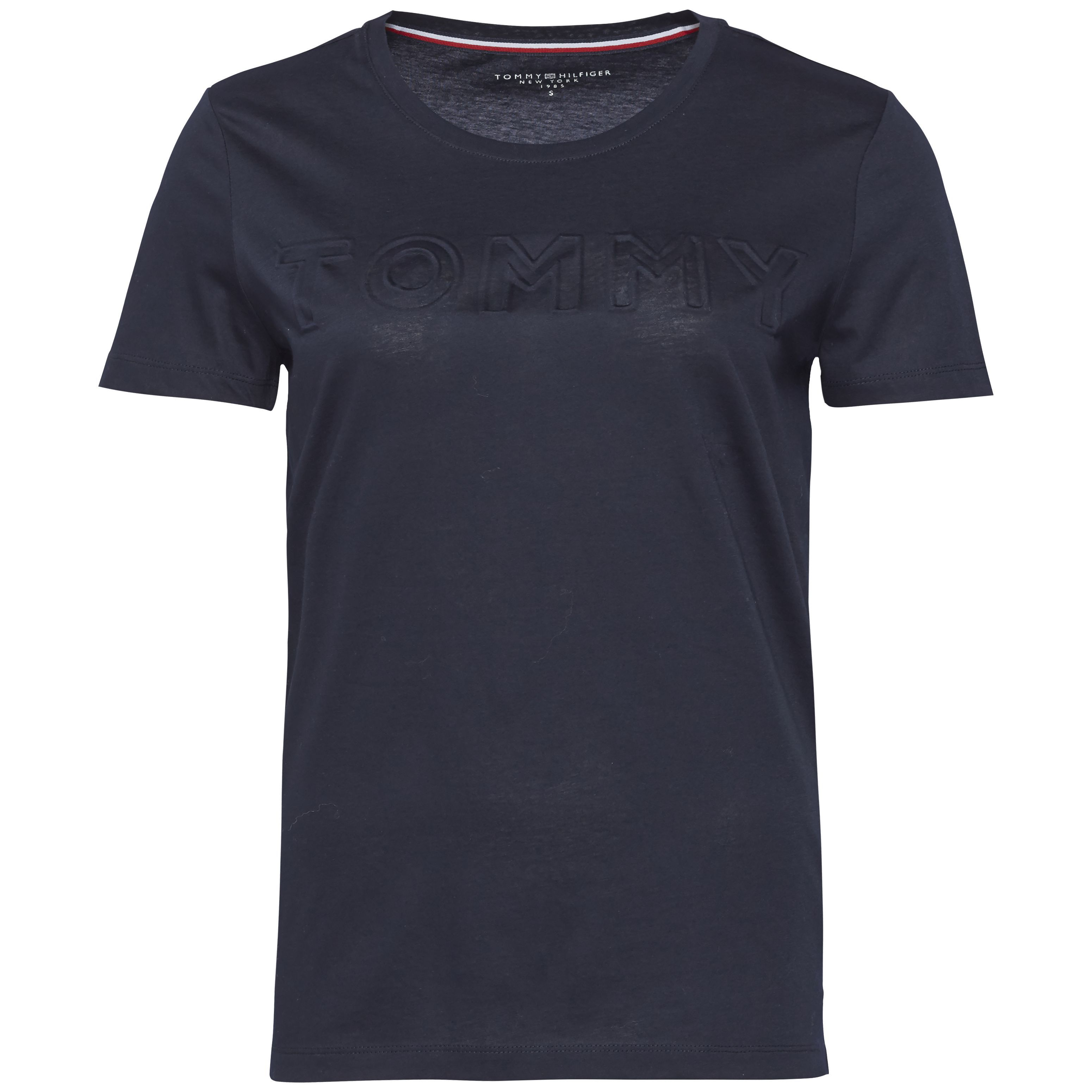 Tommy Hilfiger Tommy Embossed Short Sleeve Tee, Blue