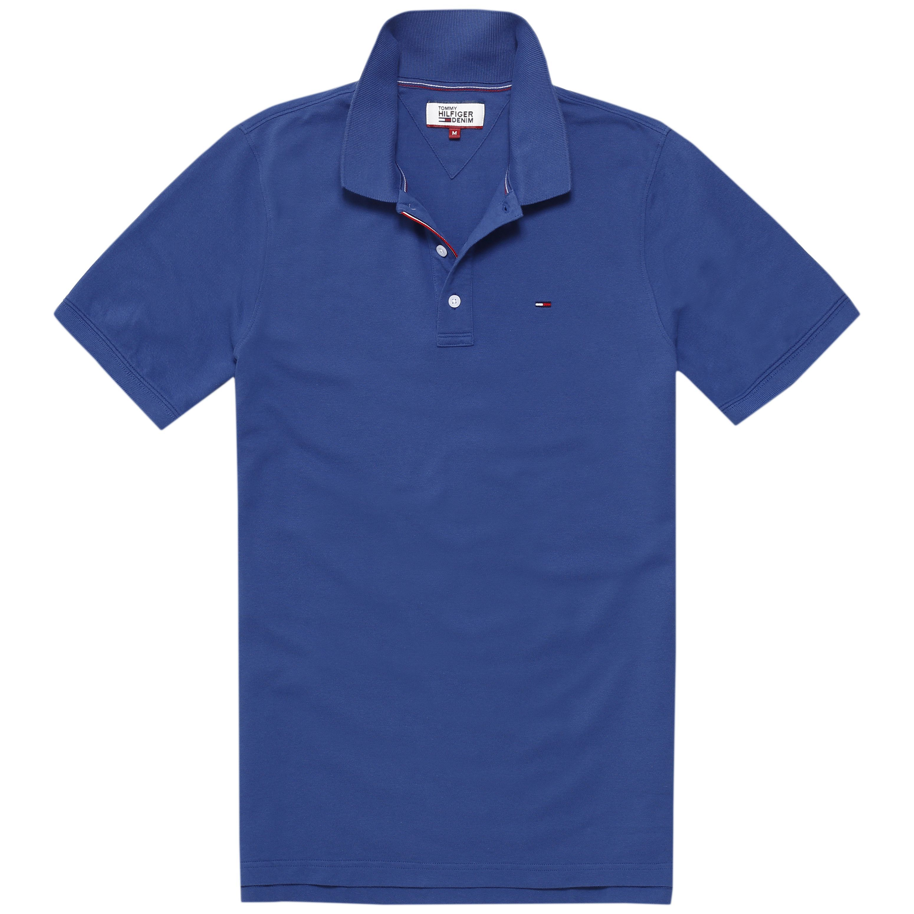 Men's Tommy Hilfiger Basic Short Sleeve Polo, Mid Blue