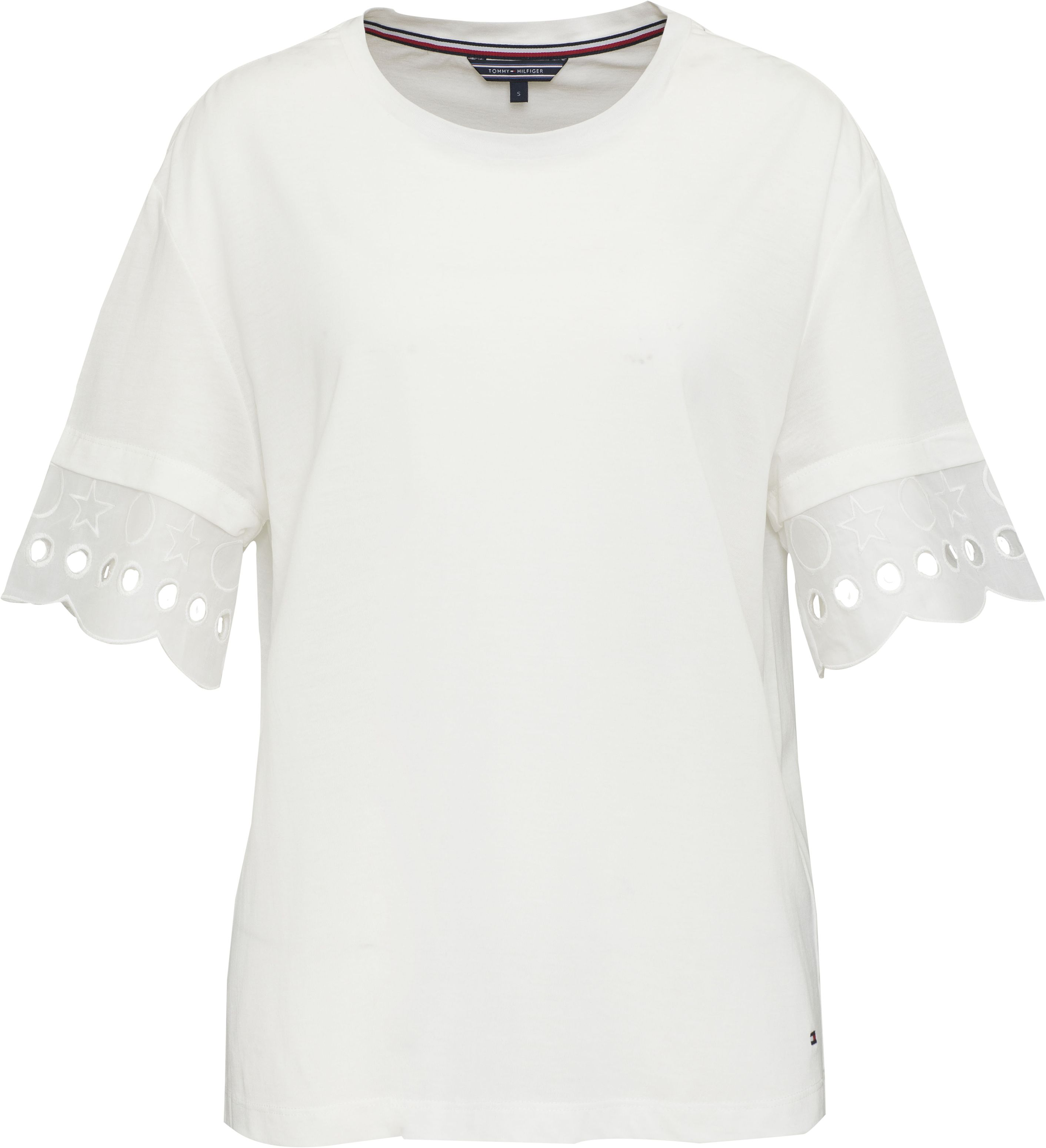 Tommy Hilfiger Abner Lace Sleeve Top, White