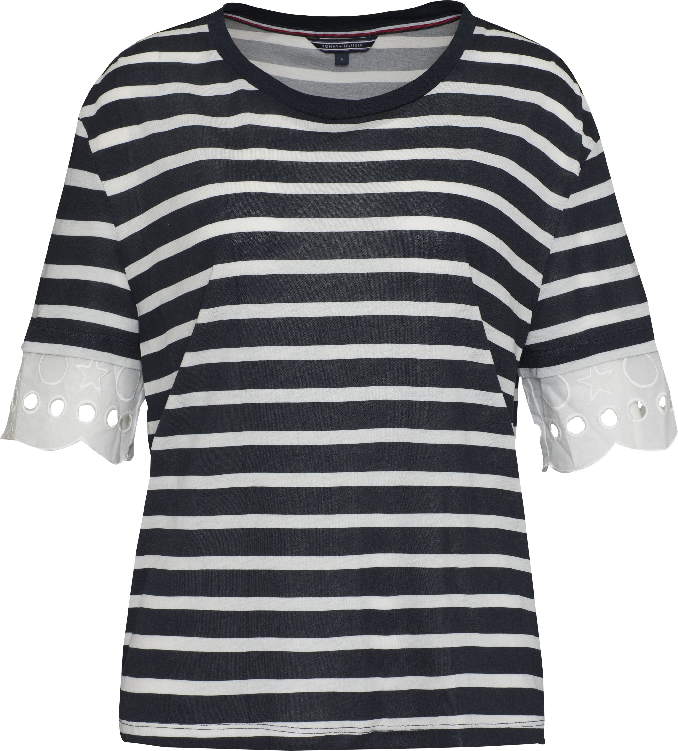 Tommy Hilfiger Abner Lace Sleeve Top, Blue
