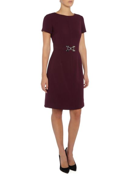 Tahari ASL Belted Shift Dress