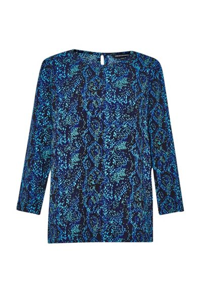 French Connection Soho Boa Drape Tunic Top