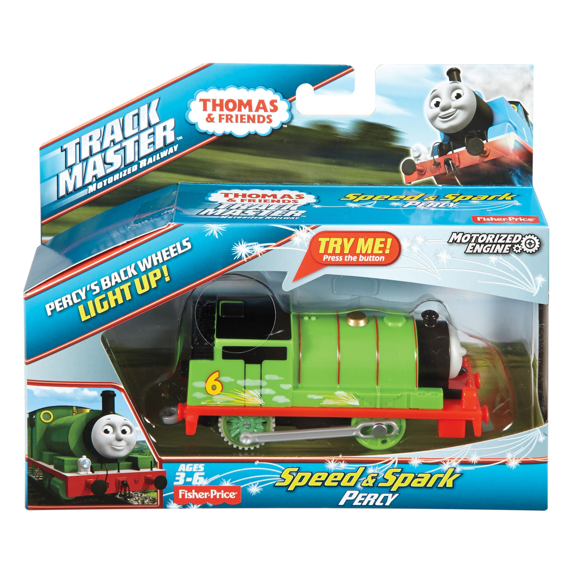 Image of Thomas & Friends Trackmaster Sparky Percy