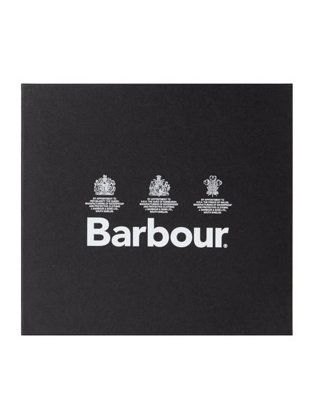 Barbour Tartan scarf and lambswool glove gift box