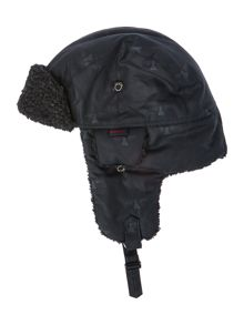 Barbour Boys Navy Blue Fleece Lined Trapper Hat
