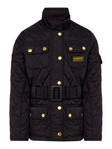 Girls international quilted funnel jacket