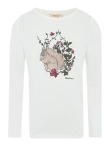 Girls Country Squirrel Graphic T-Shirt