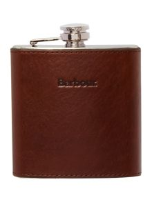 Barbour leather hipflask