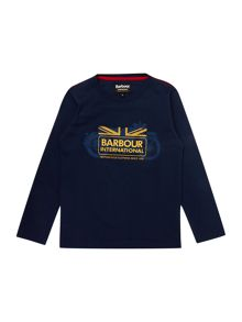 Barbour Boys Long Sleeve Motorbike Logo T-Shirt