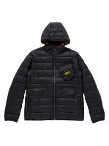 Boys Classic Quilted 3 Pocket Hooded Jacket