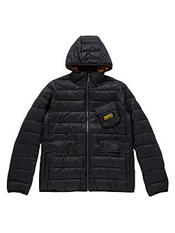 Barbour Boys Classic Quilted 3 Pocket Hooded Jacket