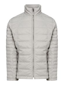 Girls quilted lined jacket with exposed zip