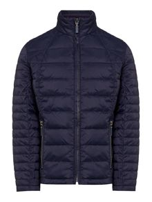 Barbour Girls quilted lined jacket with exposed zip