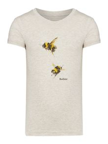 Barbour Girls short sleeved bumblebee print t-shirt