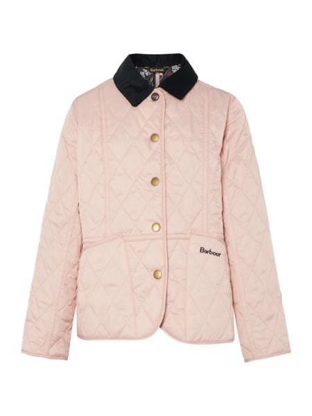 Barbour Girls quilted jacket with floral lining