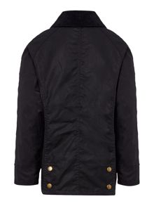 Barbour Girls wax jacket with floral lining