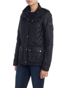 Barbour International Hairpin wax jacket