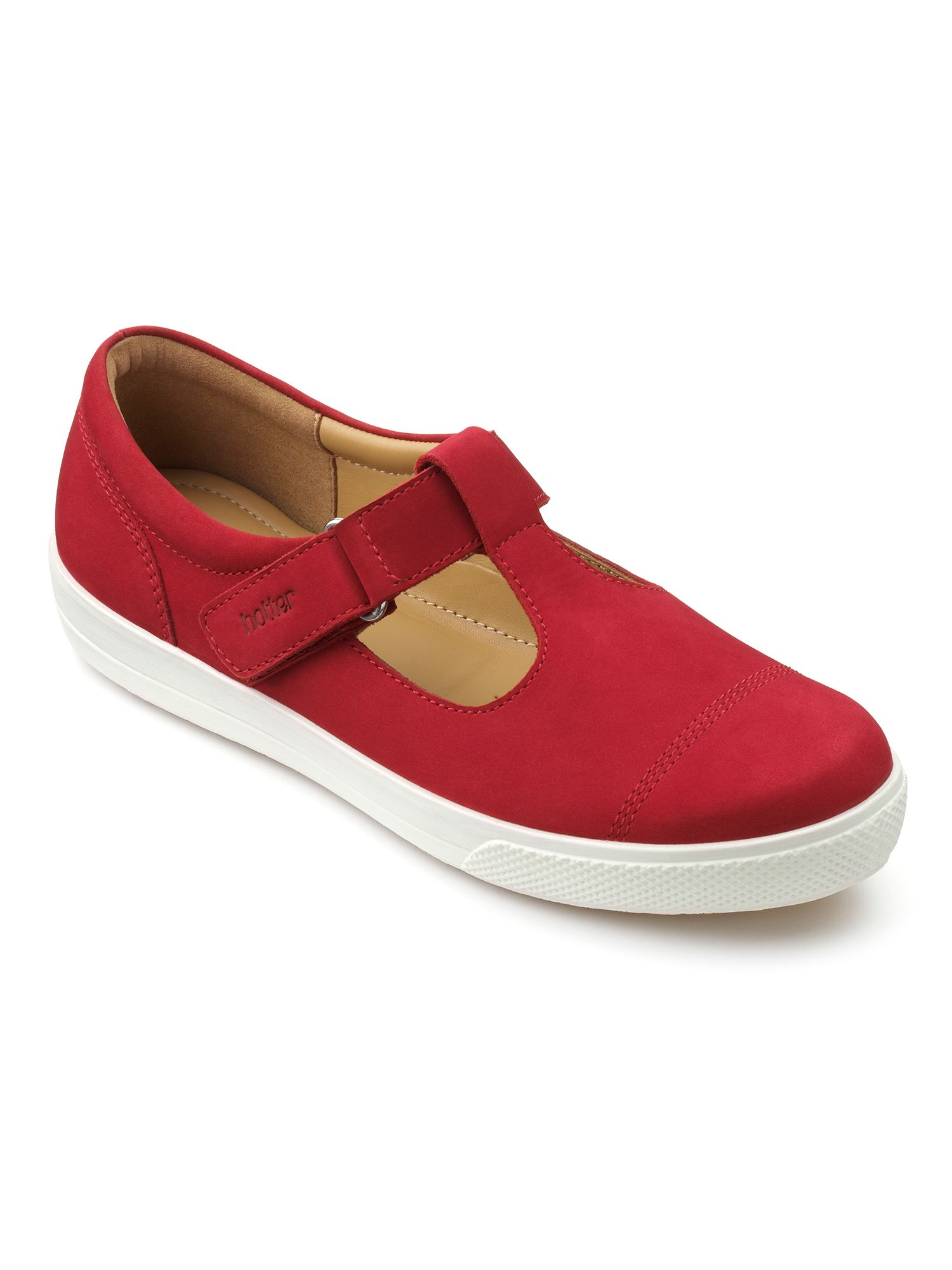Hotter Lily casual tbar shoes Crimson