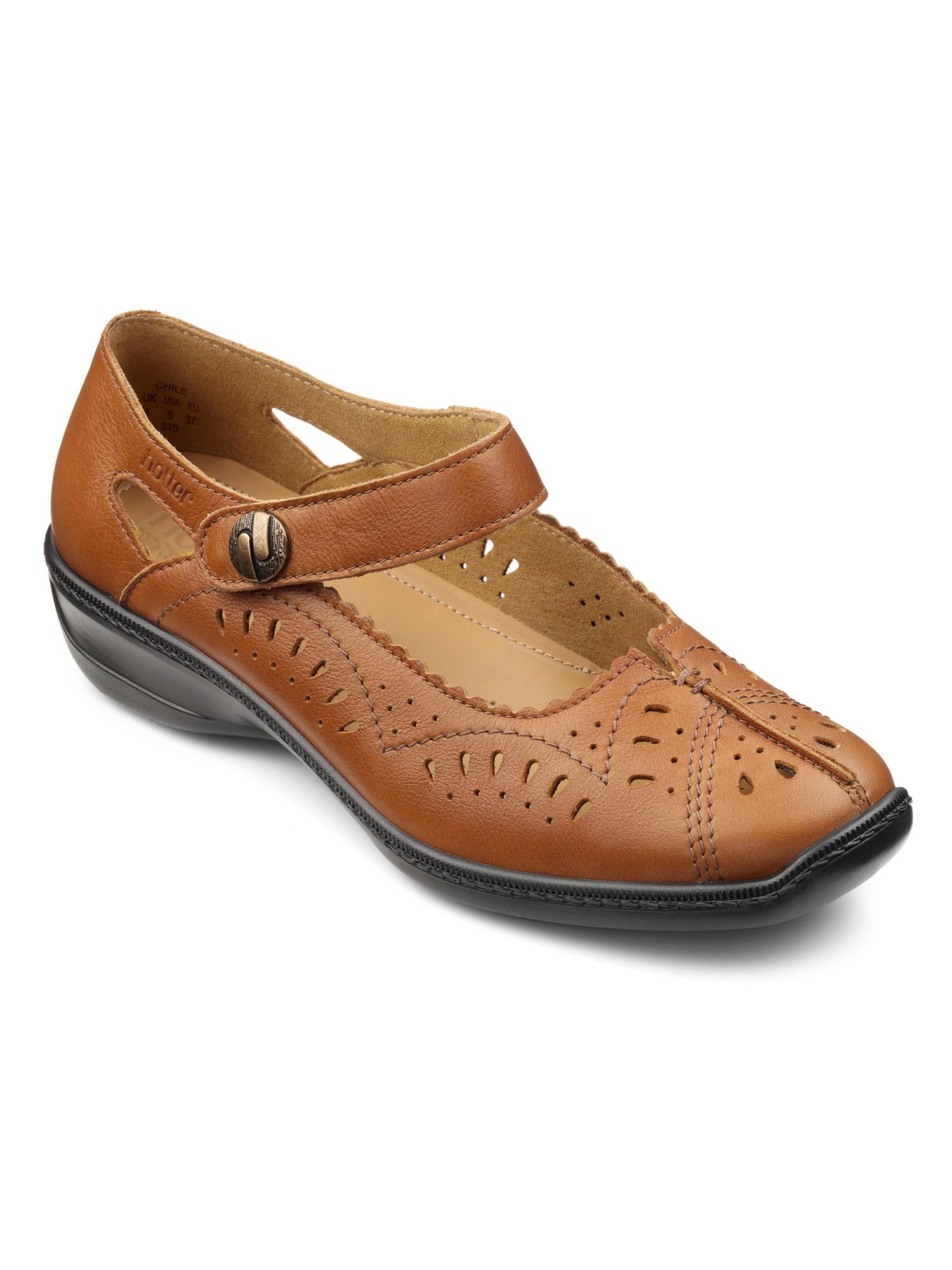 Hotter Chile ladies court shoes, Tan