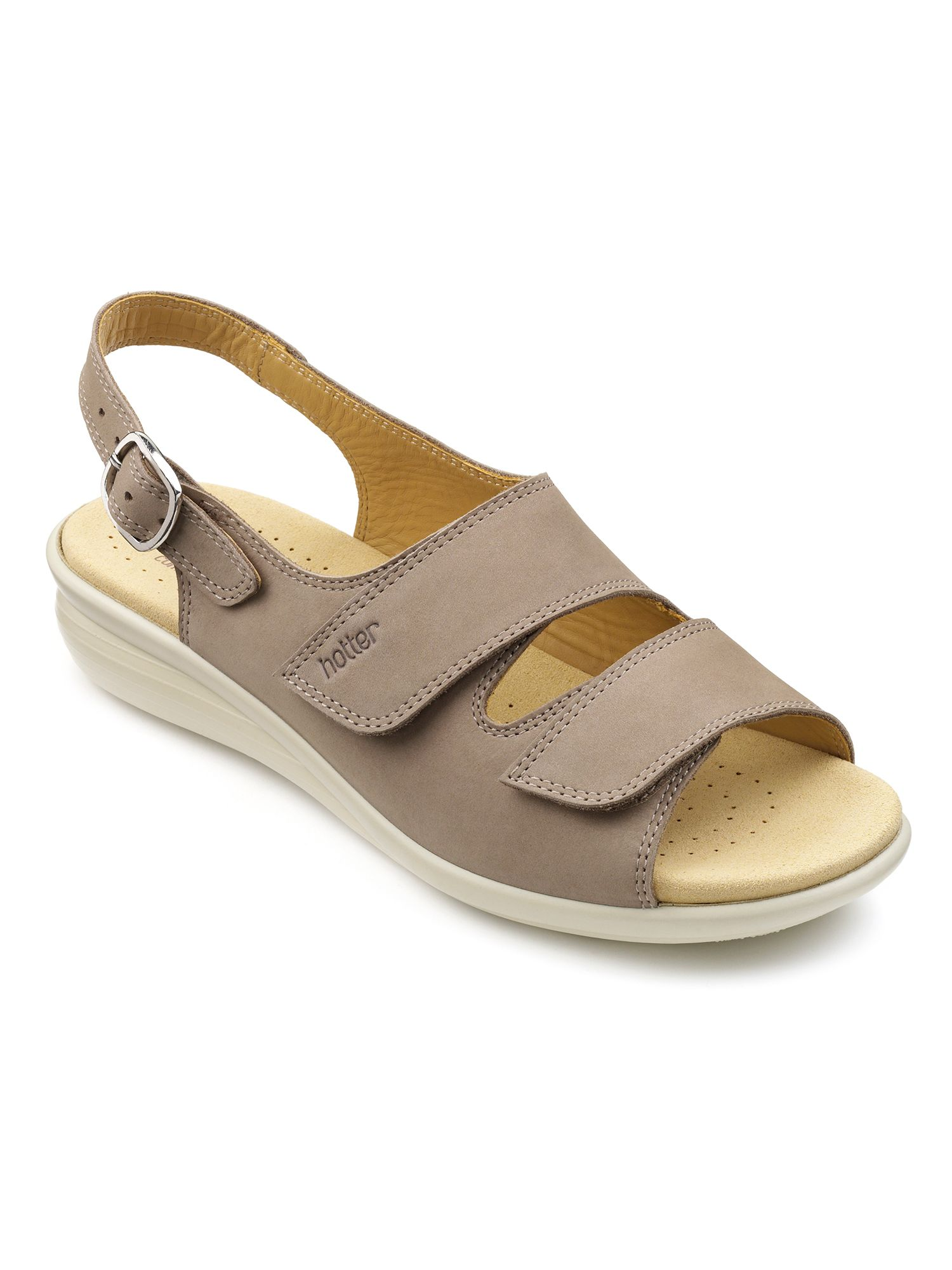 Hotter Easy original sandals, Truffle