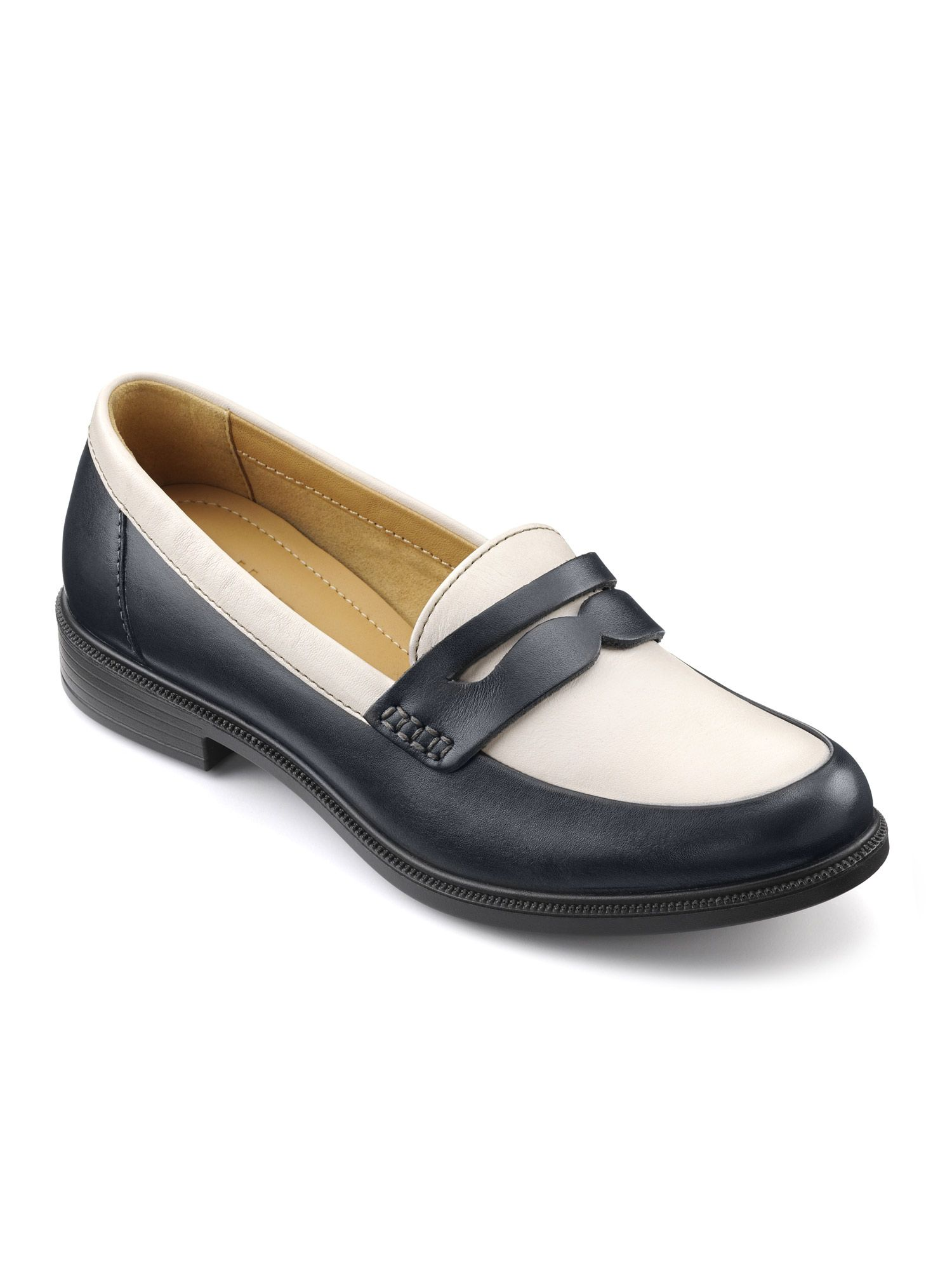 Hotter Dorset Hotter Ladies Smart Loafer Shoe, Blue