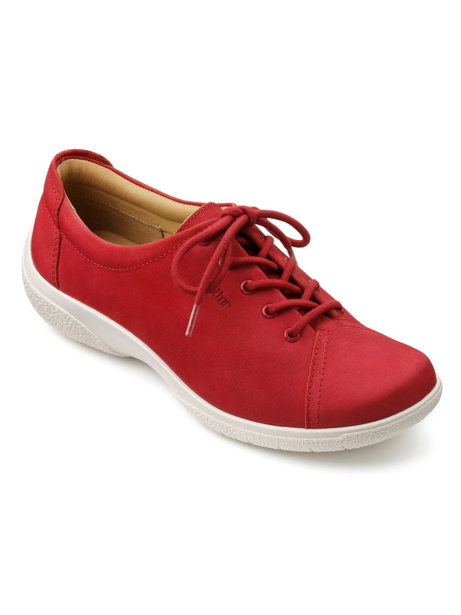 Hotter Dew Original Extra Wide Shoes, Red