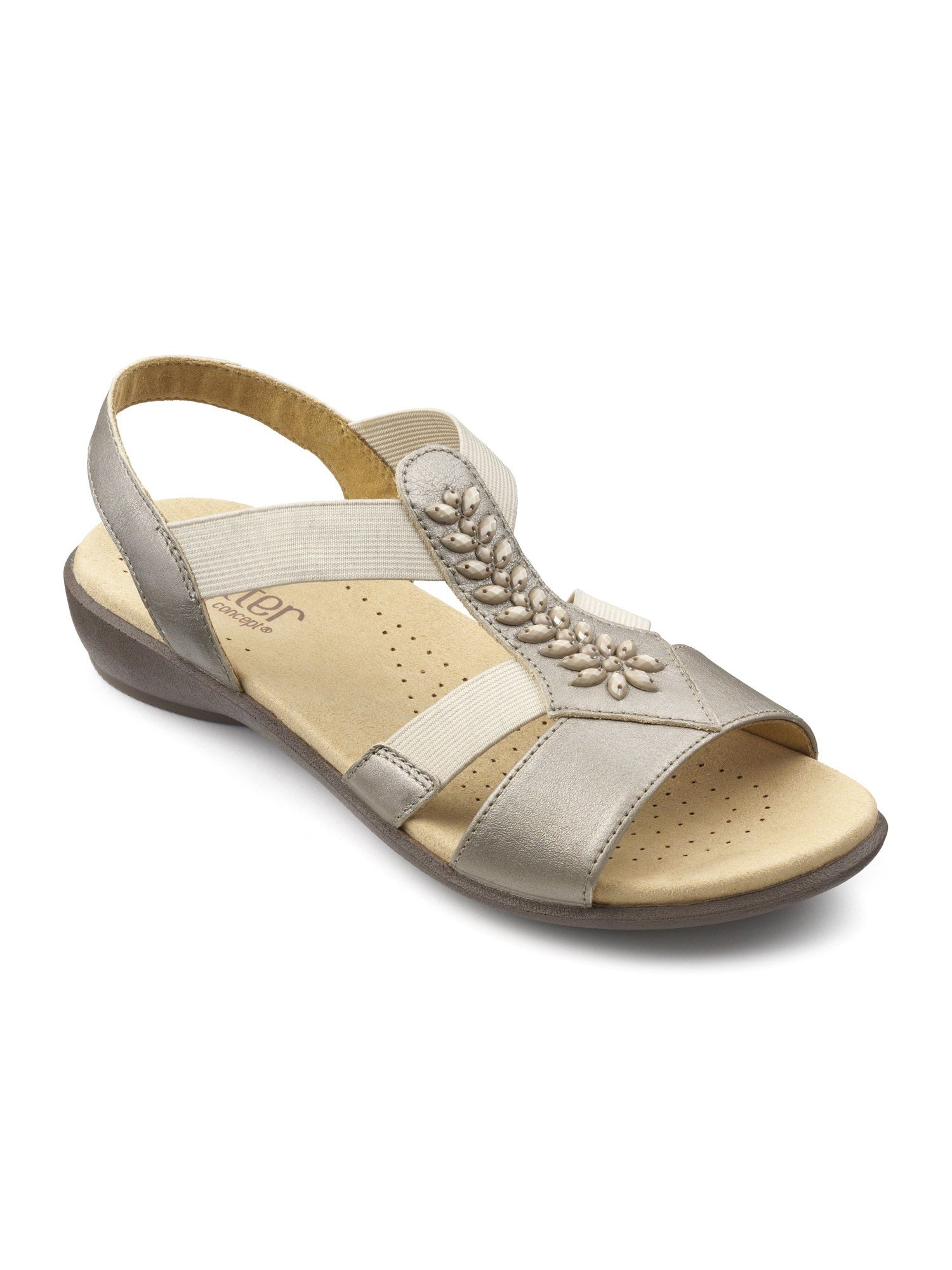 Hotter Beam Ladies Sandal, Silverlic