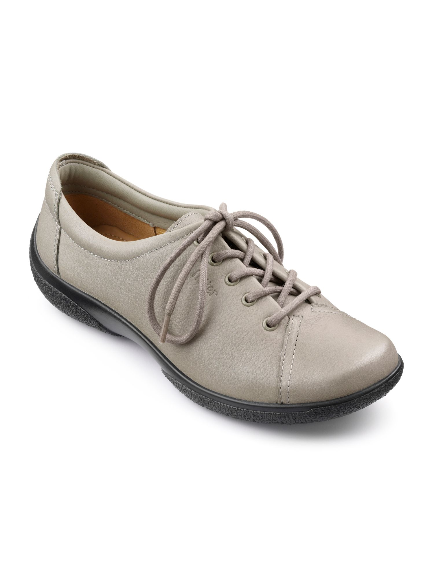 Hotter Dew Original Extra Wide Shoes, Putty