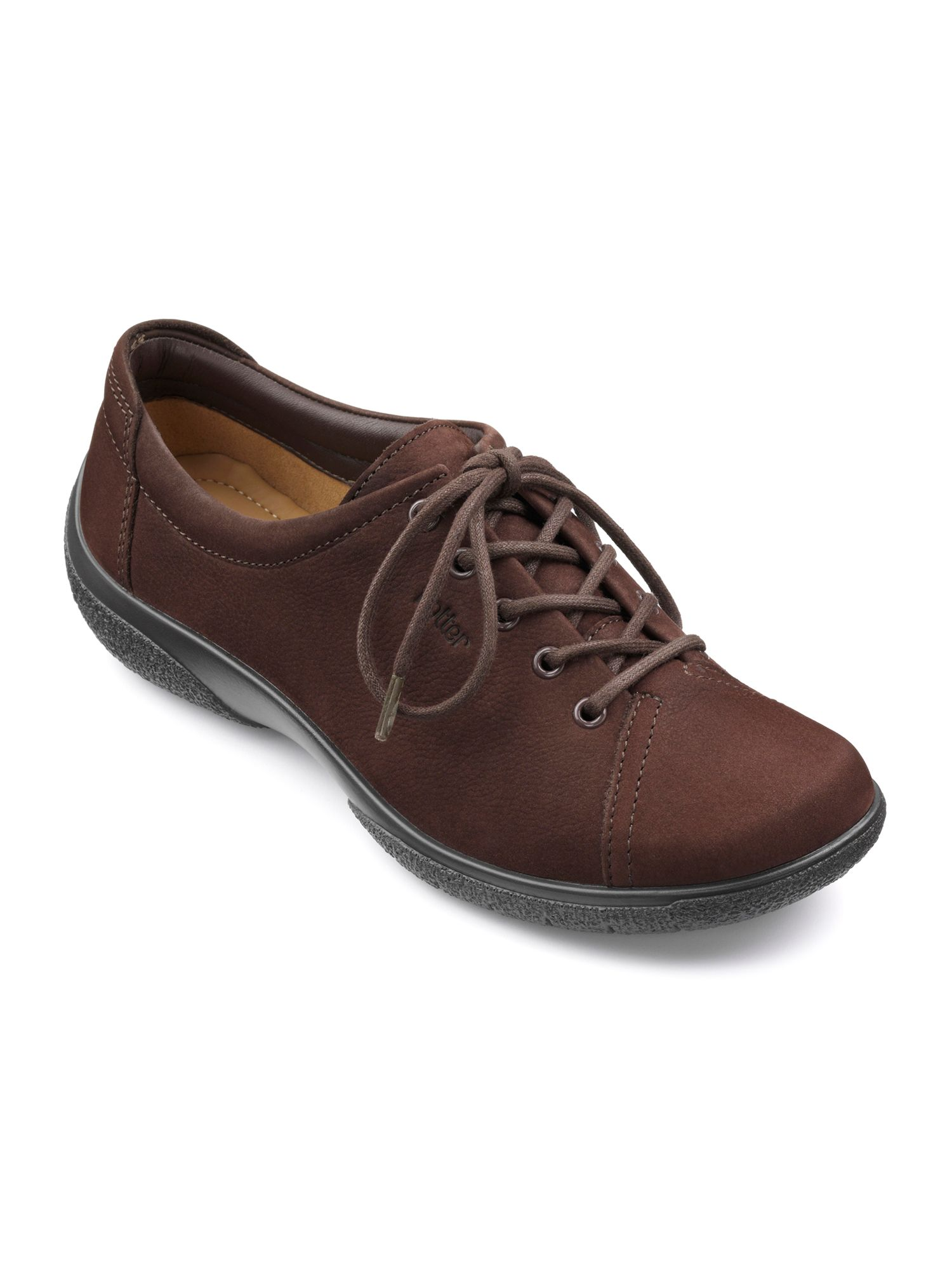 Hotter Dew Original Extra Wide Shoes, Chocolate