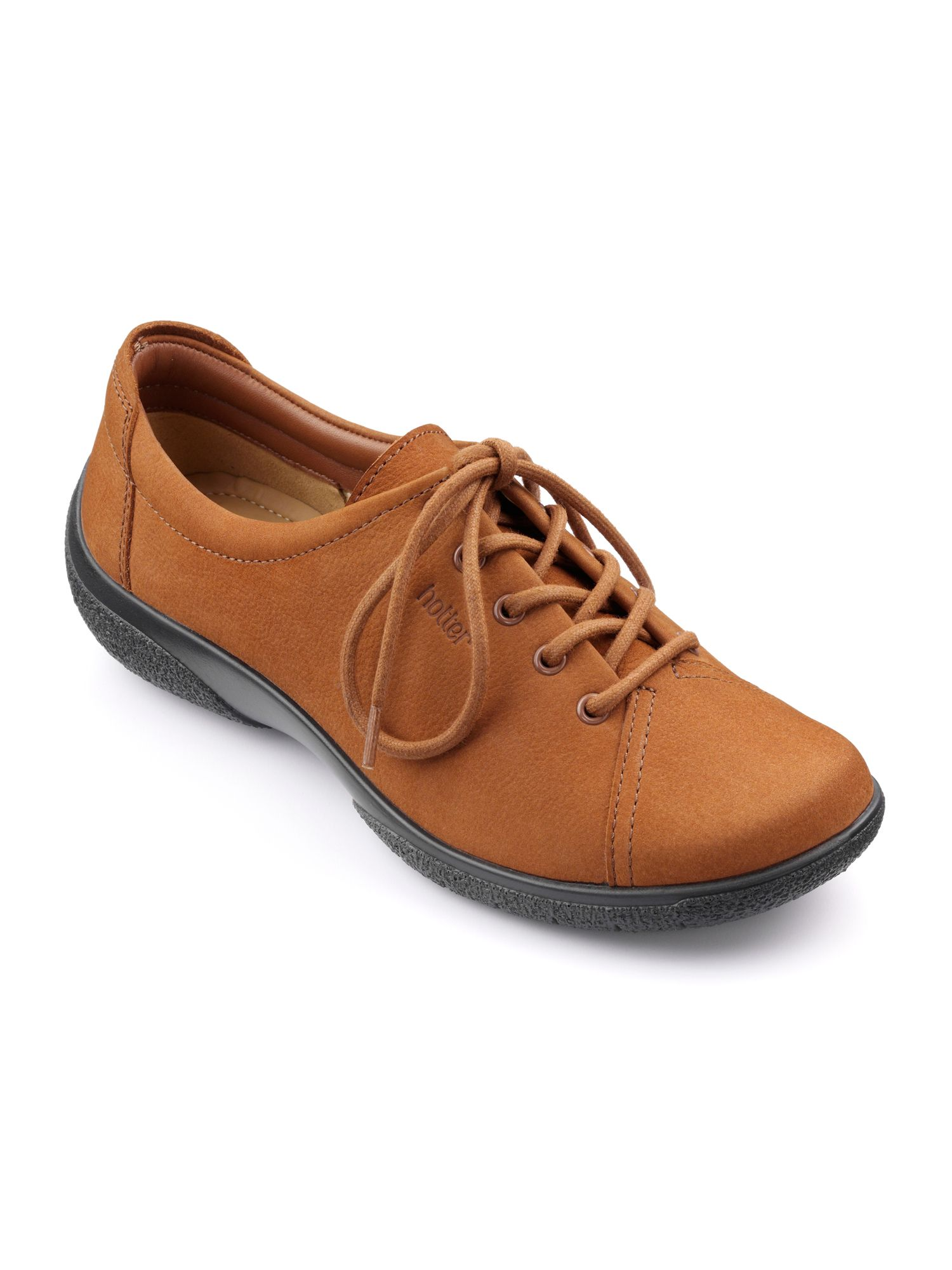 Hotter Dew Original Extra Wide Shoes, Tan