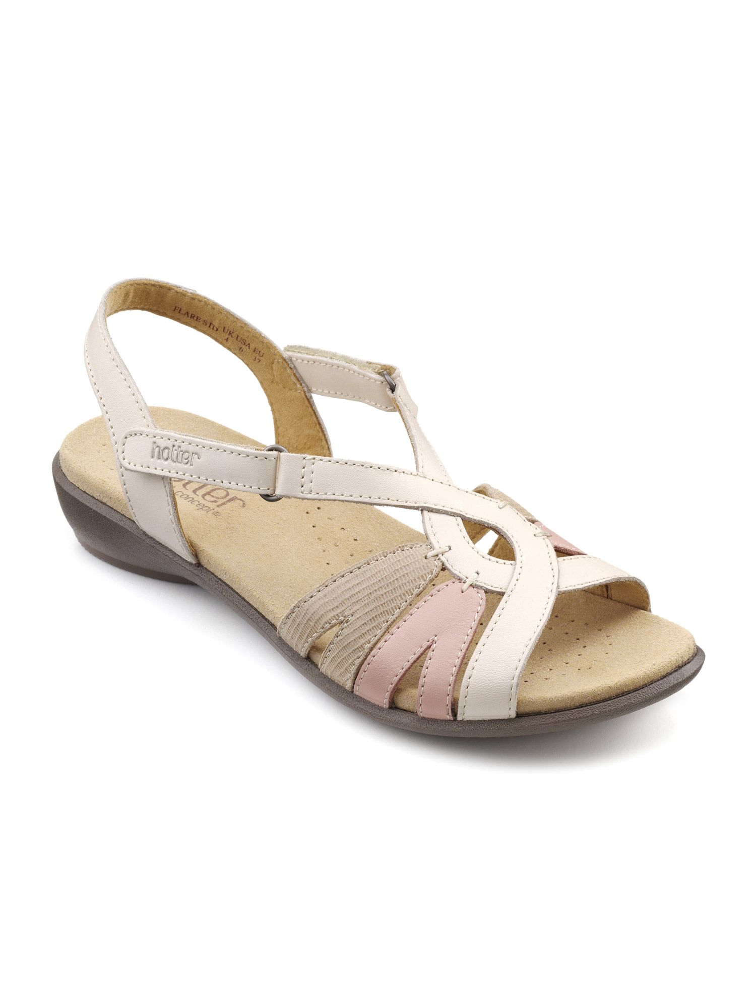 Hotter Flare Sandals, White