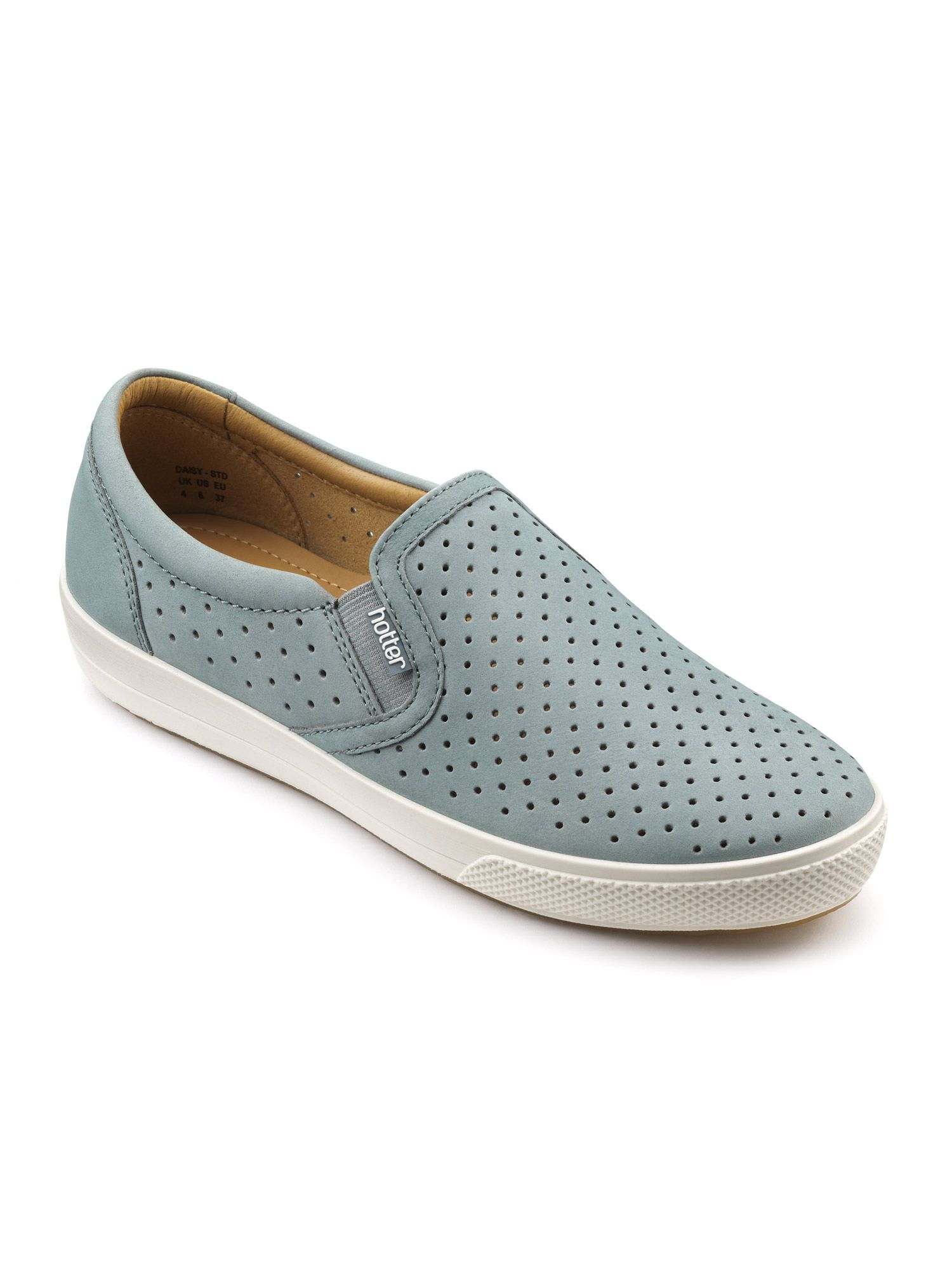 Hotter Daisy Casual Slip-on Shoes, Aqua