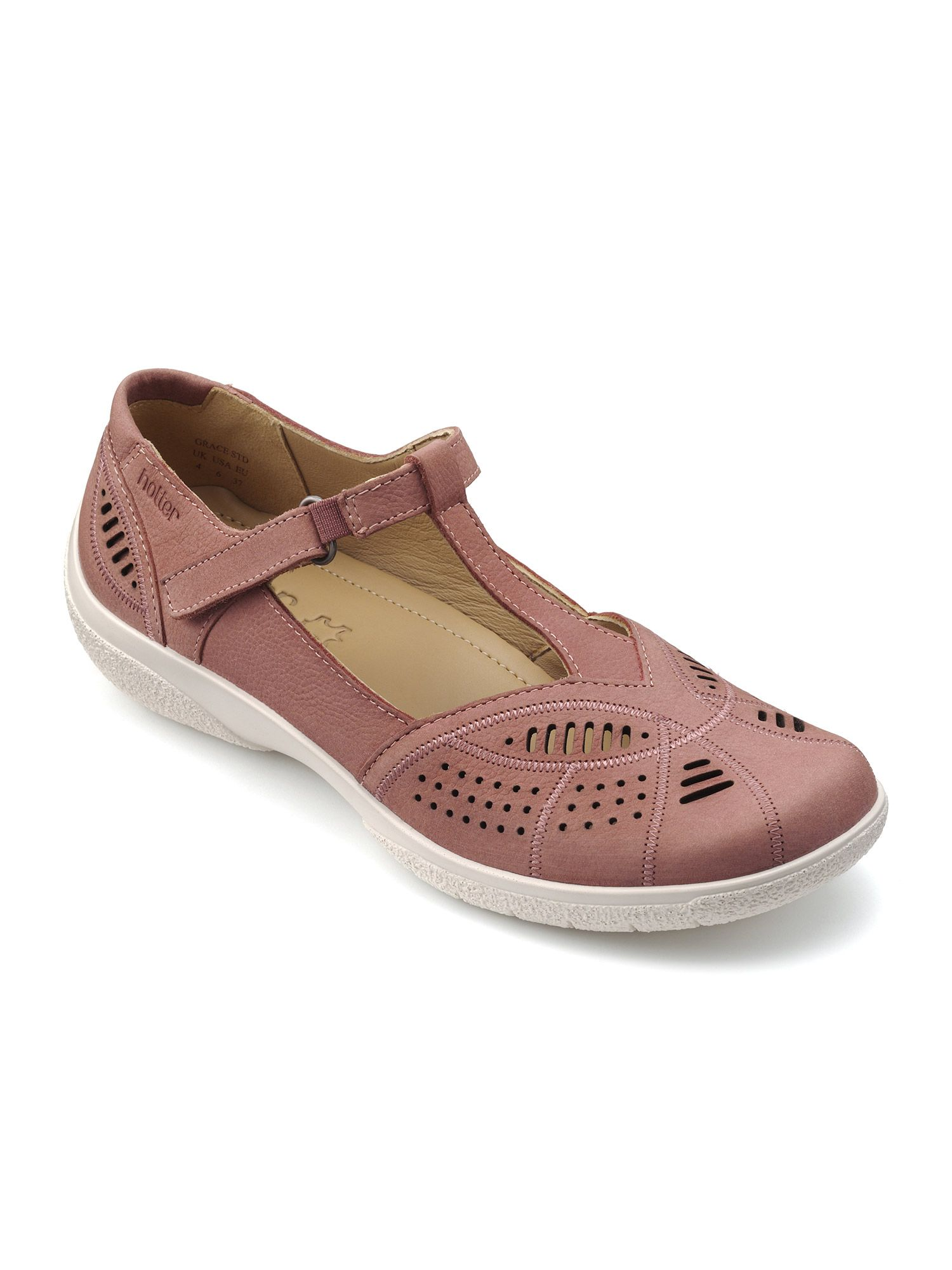 Click to view product details and reviews for Hotter Hotter Grace T Bar Summer Shoe Salmon.