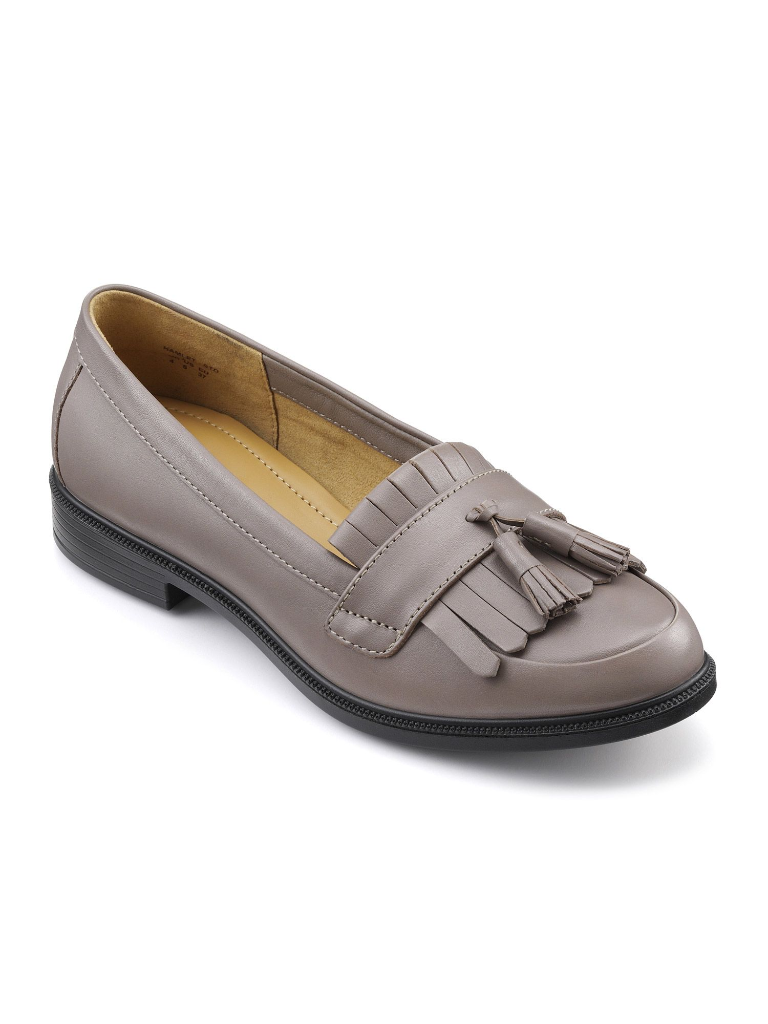 Hotter Hamlet Ladies Lightweight Loafer Shoe, Flint