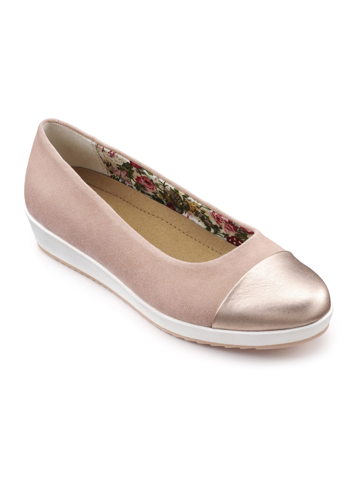 Hotter Angel Dual Fit Slip On Shoe, Powder Pink