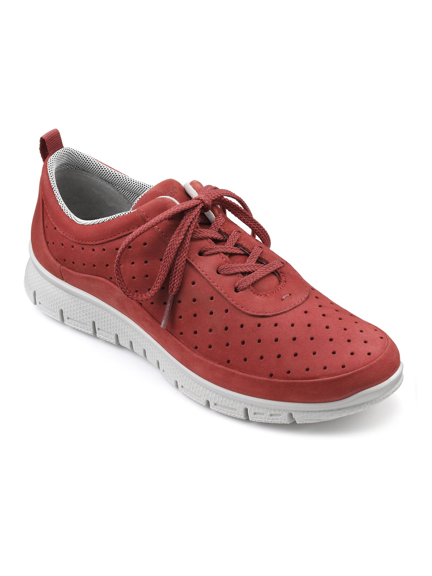Hotter Gravity Ladies Active Shoe, Red