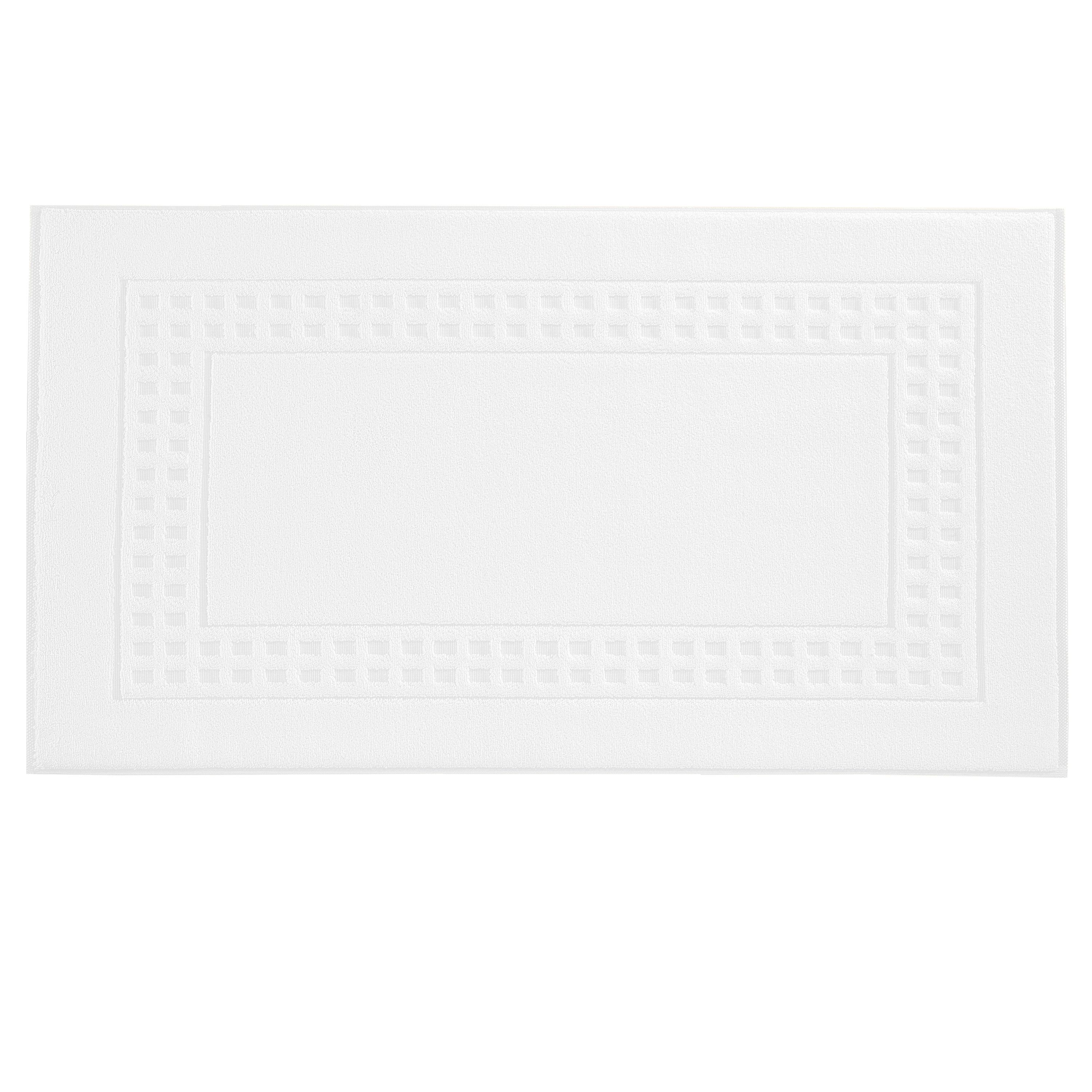 Country  bigger bath mat in white/grey