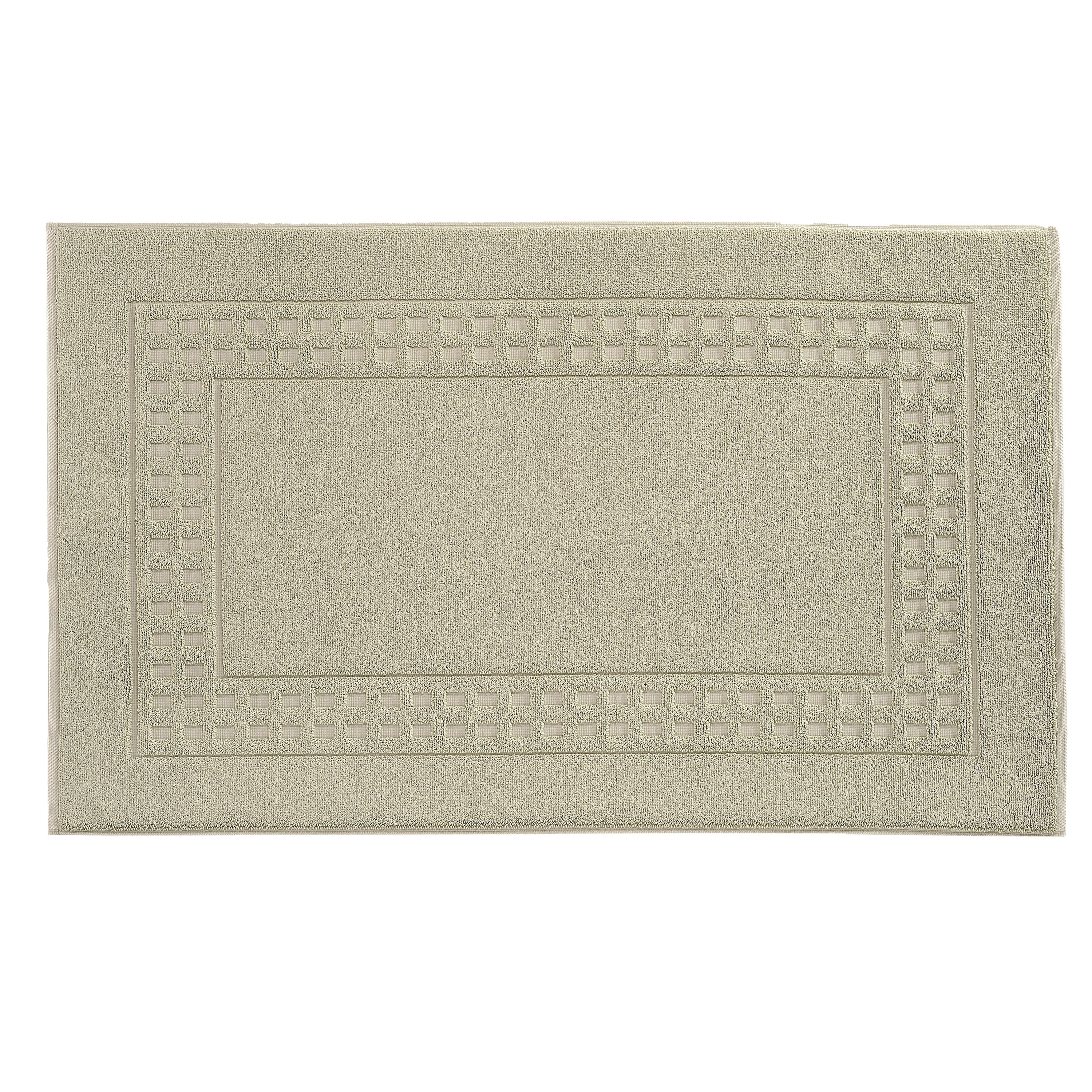 Country  bigger bath mat in tiel/ivory