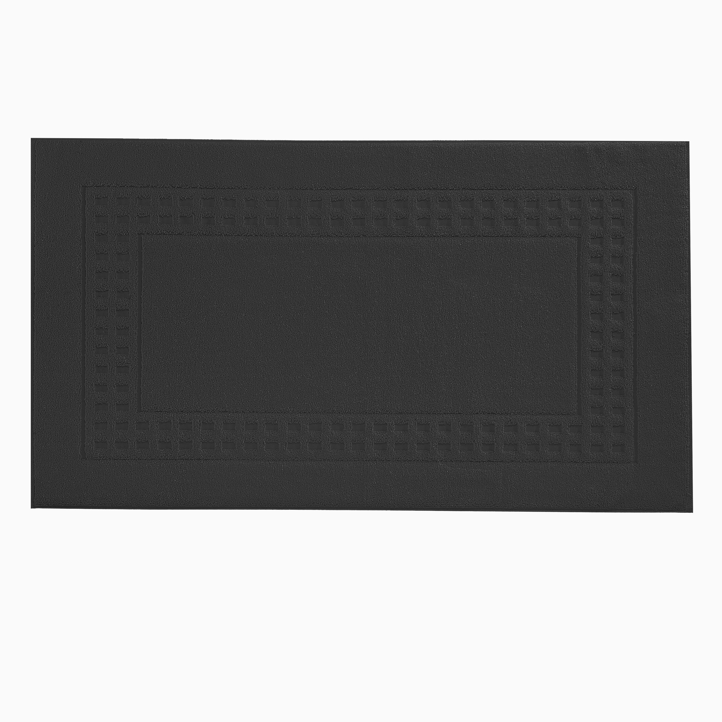Country  bigger bath mat in black/ivory