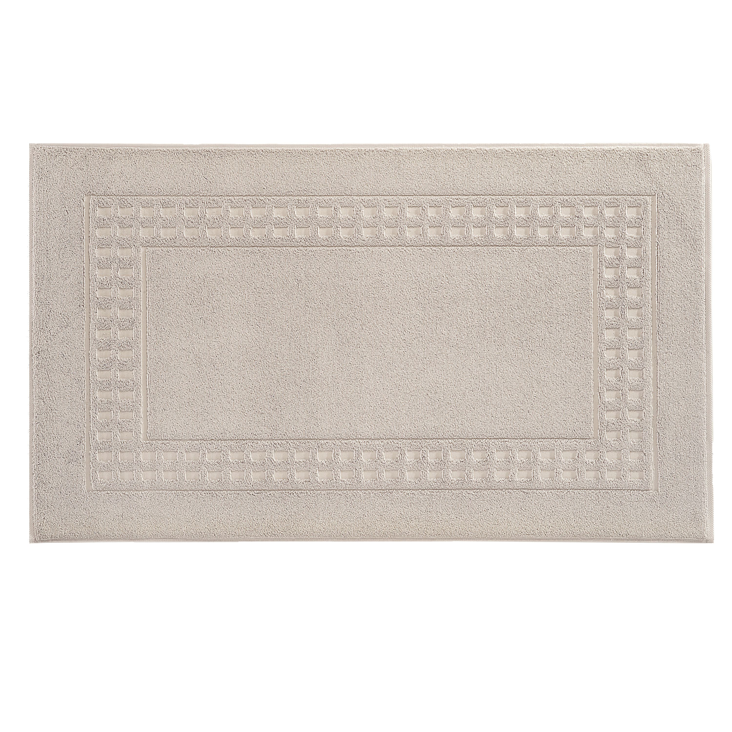 Country  bigger bath mat in light grey/ivory