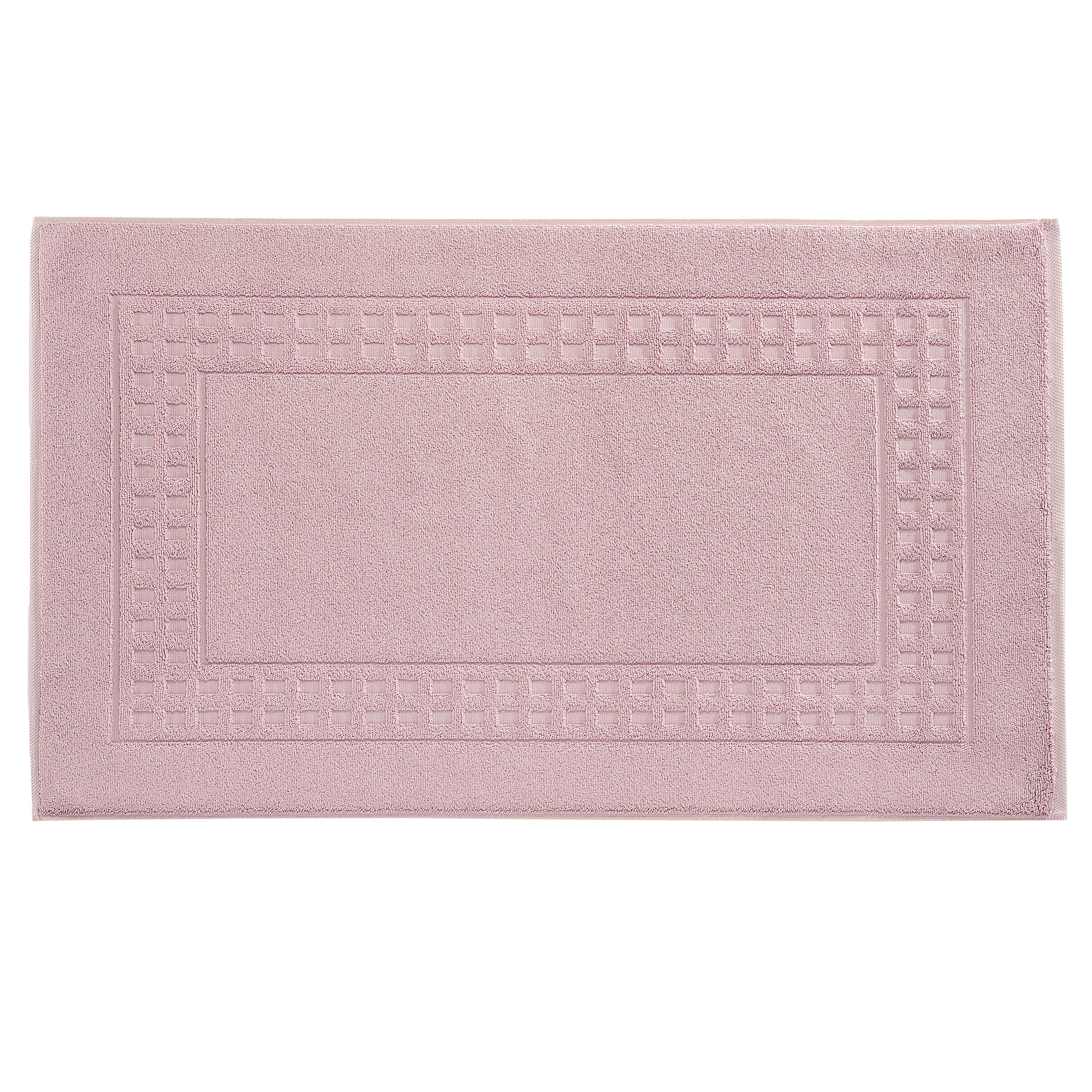 Country  bigger bath mat in lavender/ivory