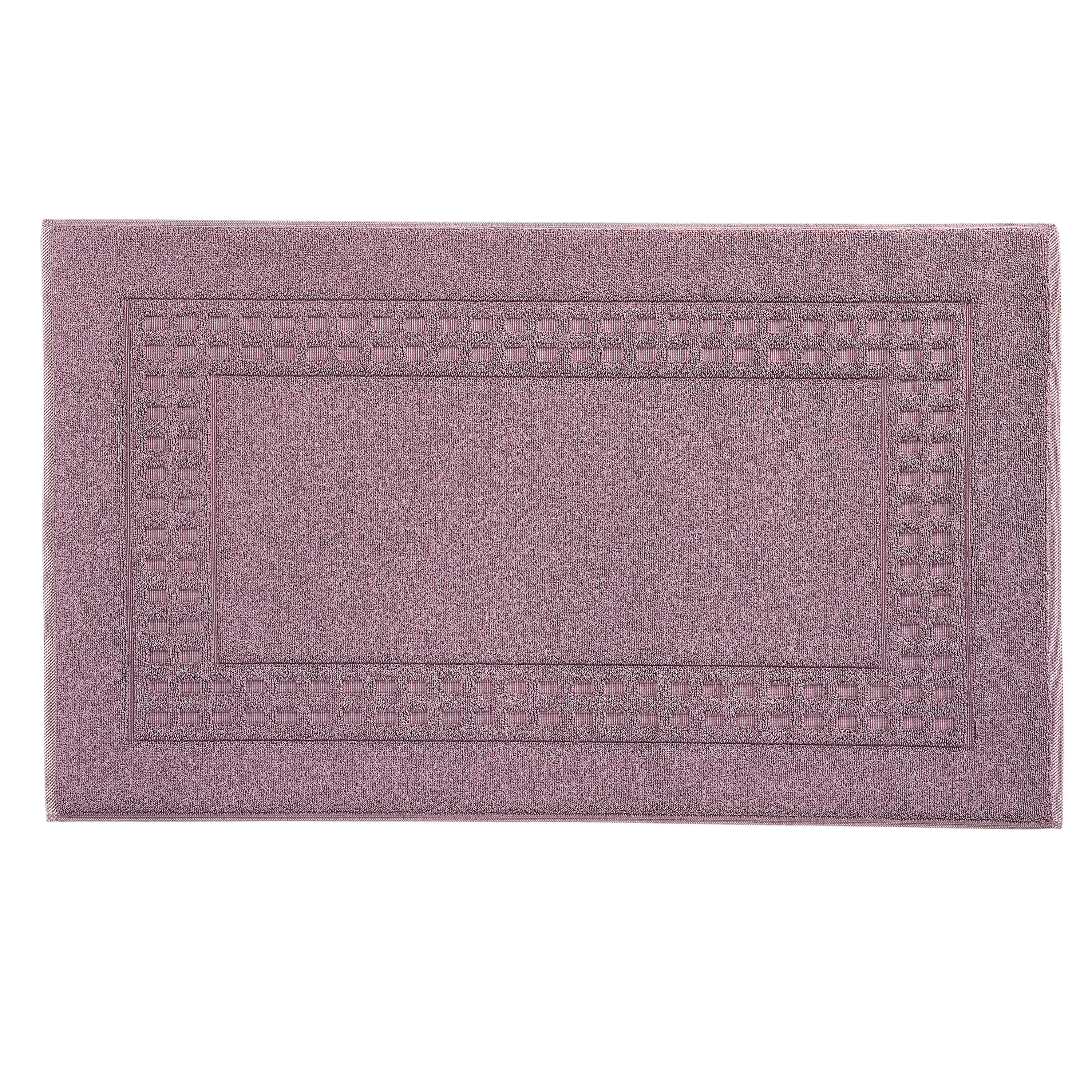Country  bigger bath mat in plum/ivory