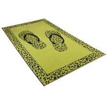 Leo flip flop meadow green sauna towel