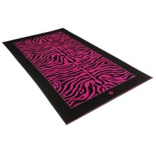 Safari zebra cranberry beach towel