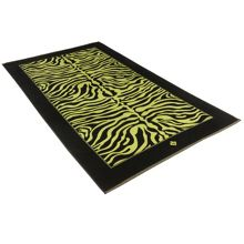Safari zebra meadow green beach towel