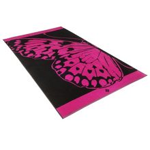Butterfly cranberry beach towel
